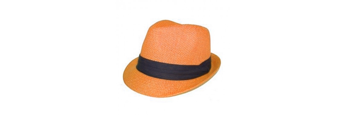 fedora orange cuban hat