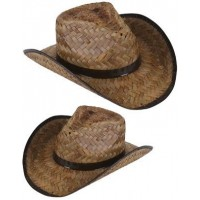 Straw Cowboy Hat Brown