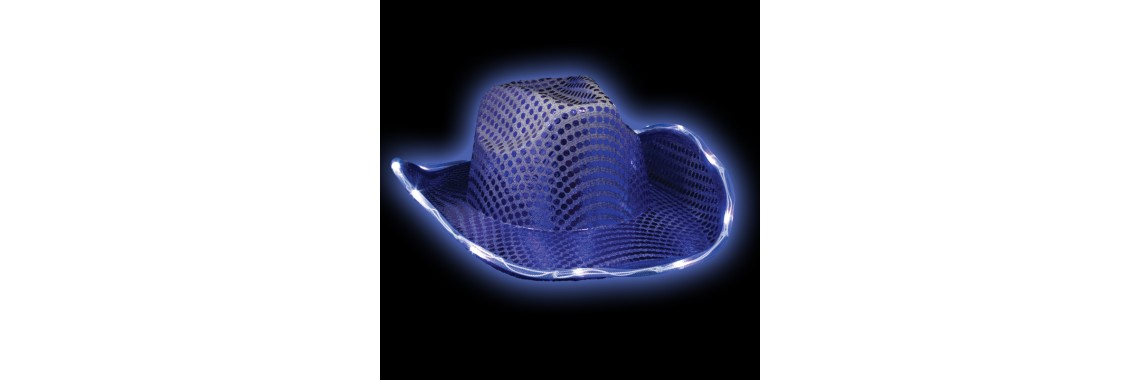 Flashing LED cowboy hat